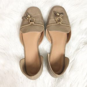 Cato D'Orsay Tassel Slip On Loafers Tan Size 10